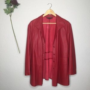 Lafayette 148 Lambskin Leather Fireball Jacket 20